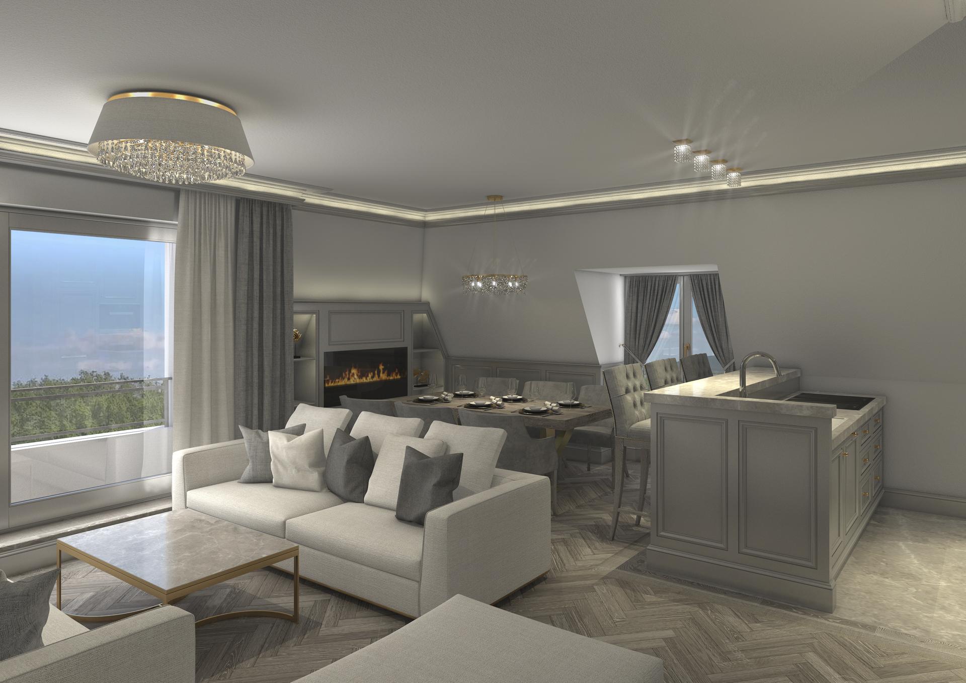 tischlerei-decker-visualisierungen-Klassisch-Wohn-Essbereich