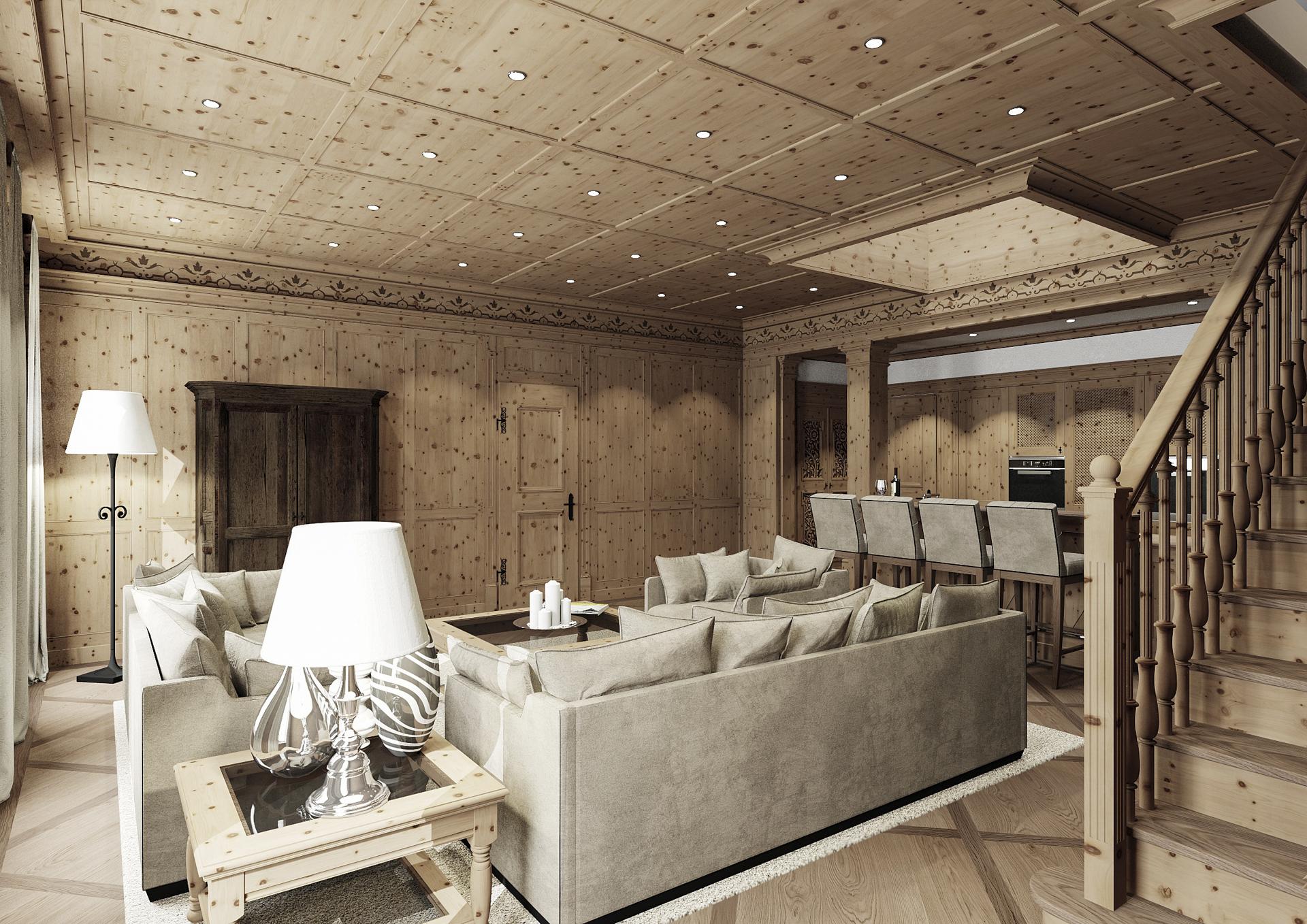 tischlerei-decker-visualisierungen-Wohnzimmer-Zirbenholz